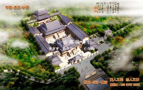 仿古建筑设计_浙江杭州依云寺规划设计
