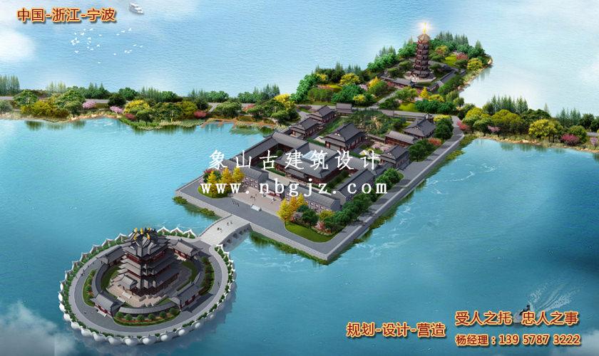 宁波东钱湖小普陀寺庙扩建方案设计