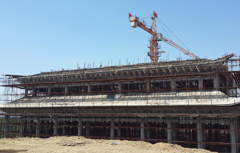 寺院建筑工程施工现场