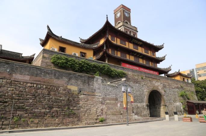 宁波古建筑欣赏鼓楼及步行街景观图片