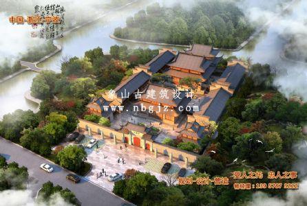 寺庙重建规划设计方案_宁波天福寺