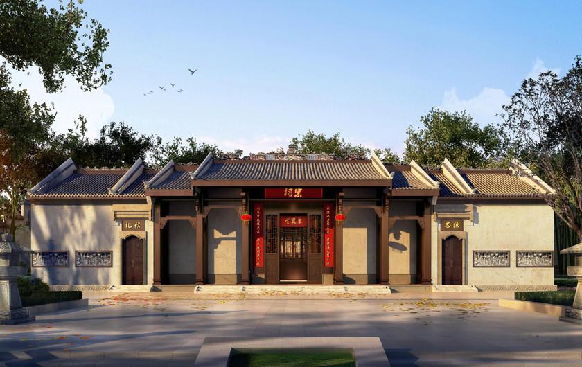 祠堂设计—古建祠堂建筑规划设计