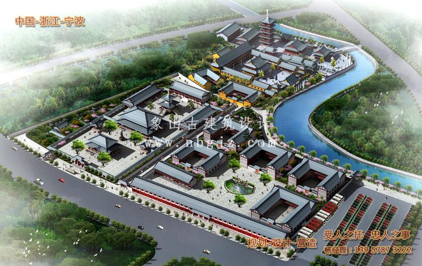 宁海广德寺总体建筑方案规划设计布局