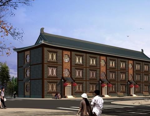 仿古建筑设计实例效果图 传承中国的独特经典