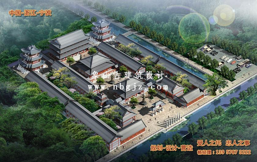 万寿寺总体建筑规划设计