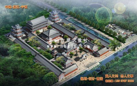 古建筑设计_万寿寺总体建筑规划设计