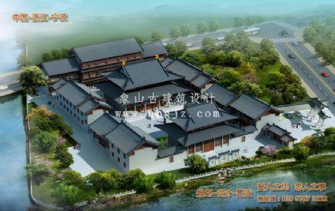宁波法王禅寺建筑规划施工图纸设计