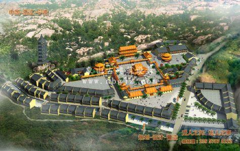 山东岠嵎禅寺建筑工程方案设计规划