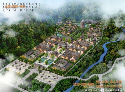 杭州富阳龙门禅寺总体寺院规划设计