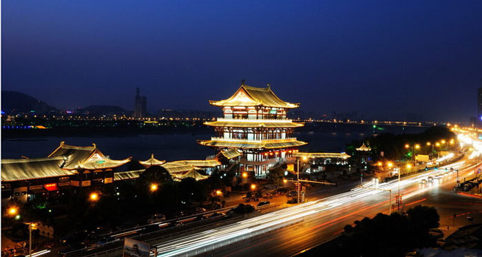 亮化设计说明-杜甫江阁古建筑照明设计
