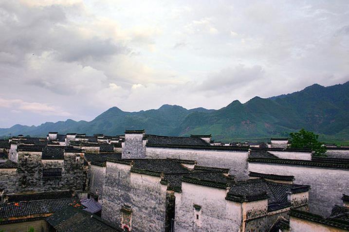 安徽黟县南屏村古建筑群旅游景点