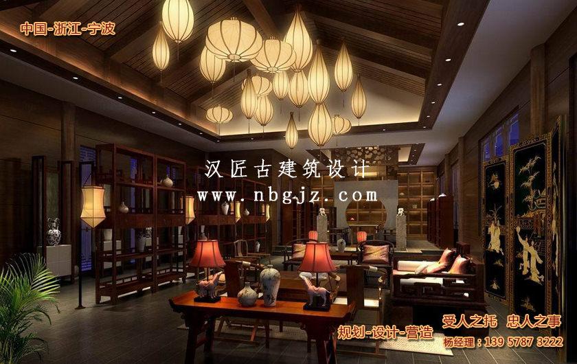 中式仿古装修设计中的灯光砖瓦艺术