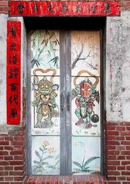 古建筑装饰门面吉祥贴物的民间习俗